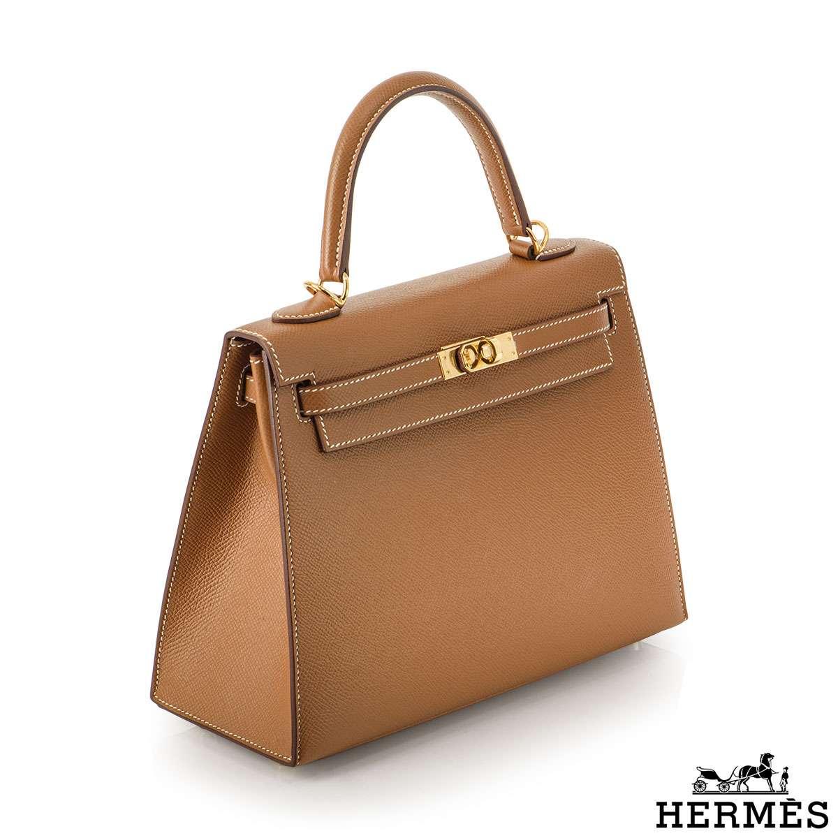 Hermès Kelly II Sellier 25cm Gold Veau Epsom Kelly Bag